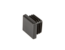 Square End Cap - Black thermoplastic - 25mm