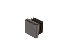 Square End Cap - Black thermoplastic - 20mm