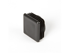 Square End Cap - Black thermoplastic - 30mm