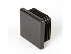 Square End Cap - Black thermoplastic - 40mm