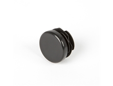 Round End Cap - Black thermoplastic - 1""