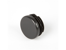 Round End Cap - Black thermoplastic - 1-1/4""