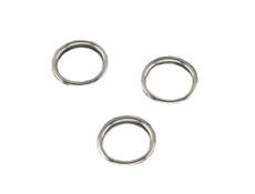 Finishing Ring - Brass nickel plated - For 22mm dia. hole