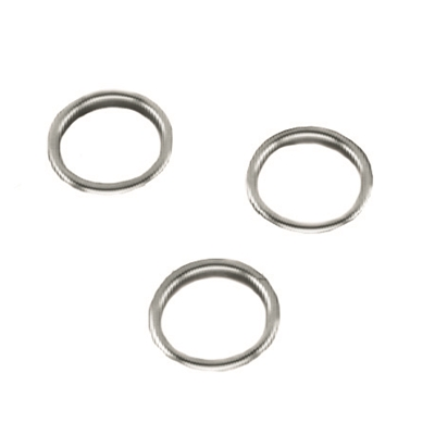 Finishing Ring - Brass nickel plated - For 22mm dia. hole - Die Pat