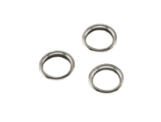 Finishing Ring - Brass nickel plated - For 25mm dia. hole