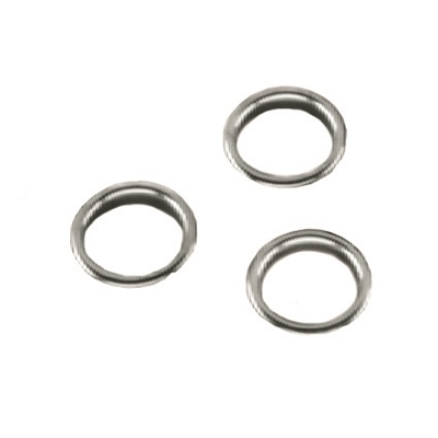 Finishing Ring - Brass nickel plated - For 25mm dia. hole - Die Pat