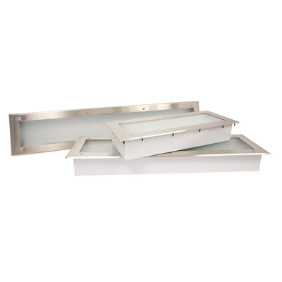 Fluorescent Canopy Hood Light Fixture - 260mm x 667mm