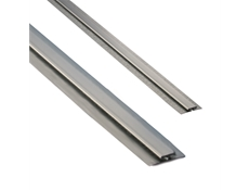 Divider Bar - Stainless Steel - With Galvanised Back Plate for 1.6mm, bright annealed finish, 2.5M length