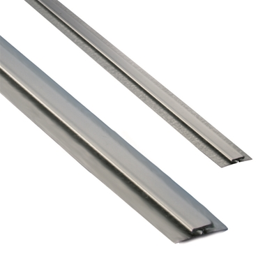 Divider Bar - Stainless Steel - With Galvanised Back Plate for 1.6mm, bright annealed finish, 2.5M length  - Die Pat