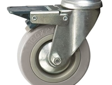 75mm dia. Wheel - 60kg load capacity - Bolt hole dia. M10 - Braked