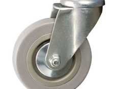 100mm dia. Wheel - 70kg load capacity - Bolt hole dia. M12 - Swivel