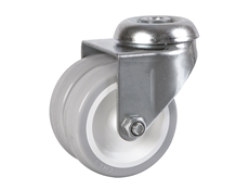 75mm dia. Wheel - 80kg load capacity - Bolt Hole Fitting - Swivel