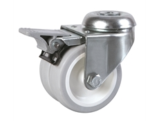 75mm dia. Wheel - 80kg load capacity - Bolt Hole Fitting - Braked