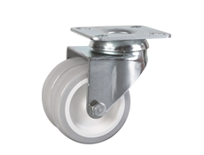 75mm dia. Wheel - 80kg load capacity - Plate Fitting - Swivel