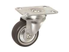 75mm dia. Wheel TPE - 75kg load - Plate Fitting - Swivel