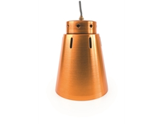 Gantry heat lamp shade in anodised copper