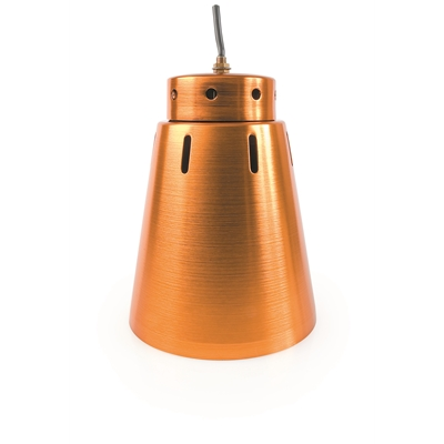 Gantry heat lamp shade in anodised copper - Die Pat
