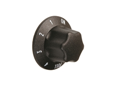 Black control knob - Marked ON-1-2-3-4-FULL - For use with Energy Regulator 50.57076.070