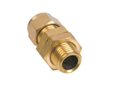 Brass Gland with Compression Fitting to suit 8mm dia. elements