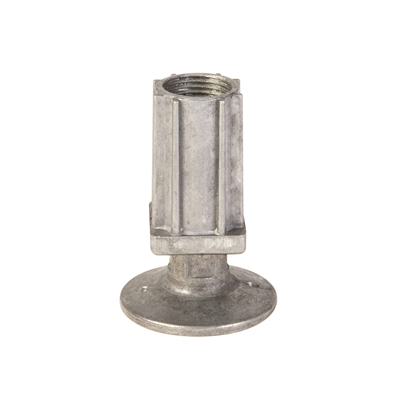 Foot Insert - Flanged - Natural Flange - 30mm Square - Die Pat