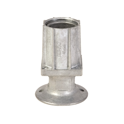 Foot Insert - Flanged - Natural Flange - 40mm Square - Die Pat