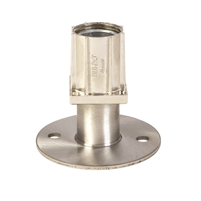 Foot Insert - Flanged S/S - Nickel Plated - 40mm Square - Die Pat