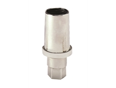 Foot Insert - Adjustable - Hexagon - Nickel Plated - 25mm Round