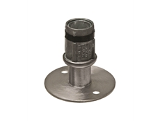 Foot Insert - Adjustable - Hi-rise - Flanged - Stainless Steel - 41mm Round