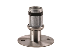 Foot Insert - Flanged Adjustable - 41mm Round - Mounting Holes - S/S
