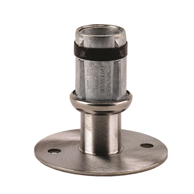 Foot Insert - Flanged Adjustable - 41mm Round - Mounting Holes - S/S - Die Pat