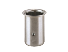 "Equipment Leg Socket - Stainless Steel - For 1-5/8"" dia. tubing or 1-1/4"" I.P.S. pipe - 78mm high"