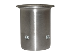 "Equipment Leg Socket - Stainless Steel - For 1-5/8"" dia. tubing or 1-1/4"" I.P.S. pipe - 78mm high - With 2 set screws"