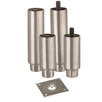 Equipment Legs - Heavy Duty - Stainless Steel - For 41mm tubing - 102mm high - Die Pat