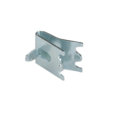 Snap-In Shelf Support - Stainless Steel - Tab height 11mm - Clip width 22mm - Die Pat