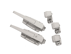 Safety Latch for Walk-In Refrigerators & Freezers - Heavy Duty - Polished Chrome - With cylinder lock