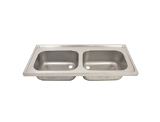 Hospital Pattern Sink Top- Double Bowl – SK2