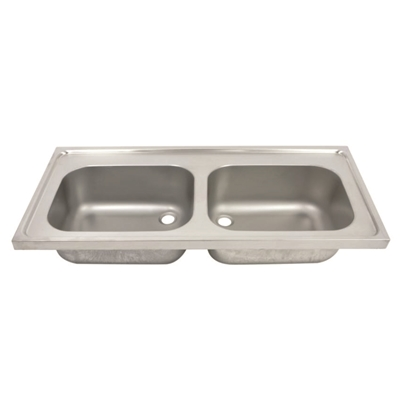 Hospital Pattern Sink Top- Double Bowl – SK2 - Die Pat