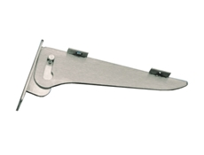 Fold Down Removable Shelf Bracket - Stainless Steel