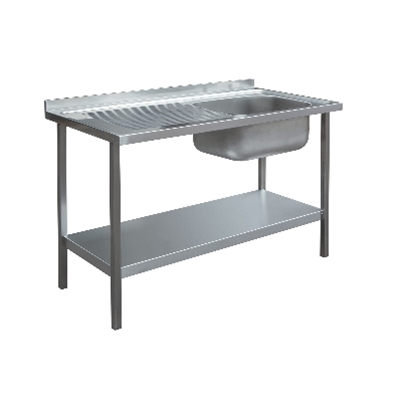 Commercial Sink Unit - 1000 x 600 Single Bowl, Single LH Drainer