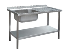 Commercial Sink Unit - 1000 x 600 Single Bowl, Single RH Drainer
