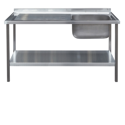 Commercial Sink Unit - 1200 x 600 Single Bowl, Single LH Drainer