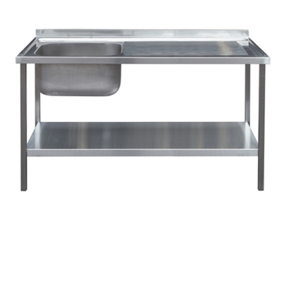 Commercial Sink Unit - 1200 x 600 Single Bowl, Single RH Drainer