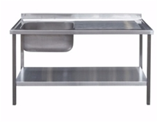 Commercial Sink Unit - 1200 x 650 Single Bowl, Single RH Drainer