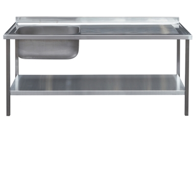 Commercial Sink Unit - 1500 x 650 Single Bowl, Single RH Drainer