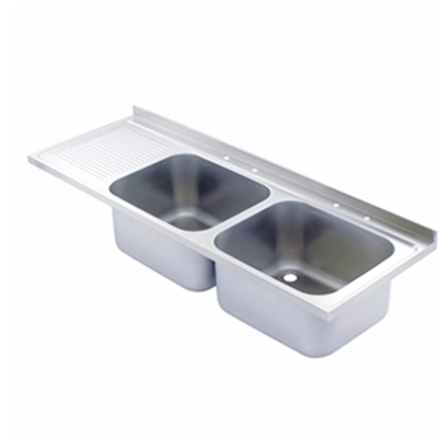 Sink Top - 1500 x 650 double bowl, single LH drainer