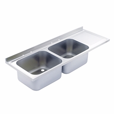 Sink Top - 1500 x 650 double bowl, single RH drainer