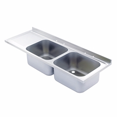 Sink Top - 1800 x 650 double bowl, single LH drainer