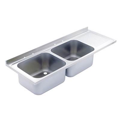 Sink Top - 1800 x 650 double bowl, single RH drainer