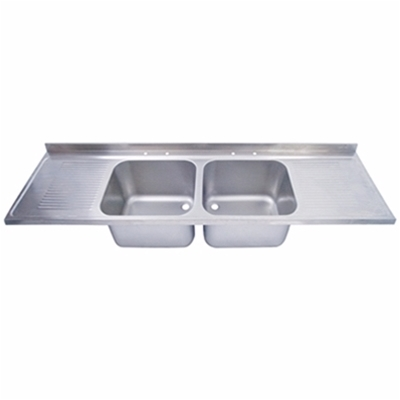 Sink Top - 2400 x 650 double bowl, double drainer