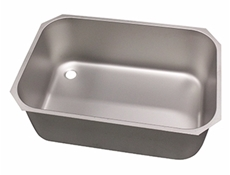 Pot wash sink bowl - Left hand - 760 x 510 x 300mm - Stainless steel strainer & chrome waste